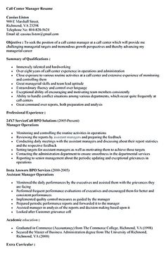 call center resume objective call center resume for professional with relevant experience needed is provided here well call center itself is the