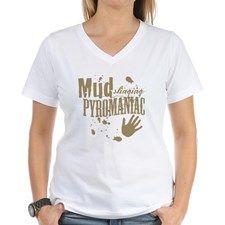 Mud Slinging Pyromaniac Women's V-Neck T-Shirt