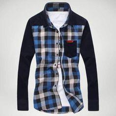 799c6c85ebfd Men s Shirts New Arrival Mens Long Sleeve Dress Shirts Plaid Style Fashion  Business Slim Fit Cotton Shirts Free Shipping Size M-XXXL 602