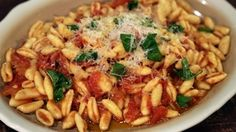 Cavatelli with Quick Tomato Sauce Recipe: Michael Symon Pasta Dinner Recipes, Pasta Dinners, Dinner Entrees, Weeknight Dinners, The Chew Recipes, Cooking Recipes, Game Recipes, Beef Recipes, Yummy Recipes