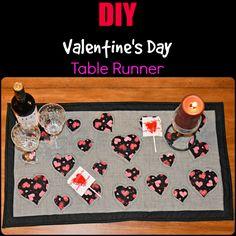 DIY Valentine's Day Table Runner
