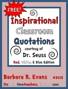 FREE patriotic themed quotations to display in your classroom.  Promote meta-cognition.