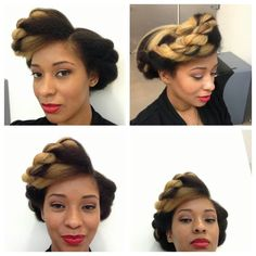 Love the two tone natural hair