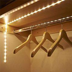 Wireless Motion sensor LED Night light Bed Cabinet Stairs light USB LED Strip lamp For TV Backlight lighting Led Cabinet Lighting, Stair Lighting, Closet Lighting, Cabinet Lights, Led Light Bars, Led Light Strips, Led Night Light, Light Led, Night Lights