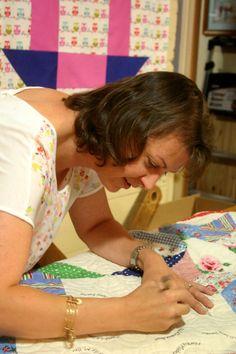 Kay - owner/operator of Rachel's Quilt Patch in Staunton, VA #quilts #quilting #quiltshops