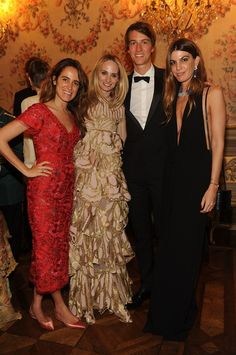 Coco Brandolini D'Adda, Lauren Santo Domingo, Alexandre Arnault, Bianca Brandolini D'Adda attend Valentino Garavani & Giancarlo Giammetti: A private dinner on May 21, 2016 - Vogue.it #lsd