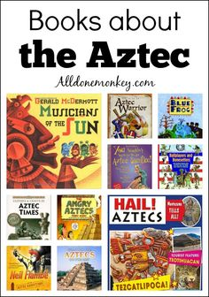 Learn about the Aztec with these great books for kids, including folktales, studies of everyday life, and humorous works. Spanish Lessons, Learning Spanish, Spanish Class, Art Lessons, Best Children Books, Childrens Books, Ancient Aztecs, Ancient Civilizations, Egyptians