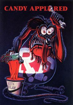 Rat Fink Ed Big Daddy Roth - Candy Apple Red | Flickr - Photo Sharing!