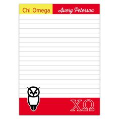 Chi omega scale frame invitations chi o invitations sorority chi omega owl note pad was designed by avery peterson a chi omega sister at stopboris Image collections