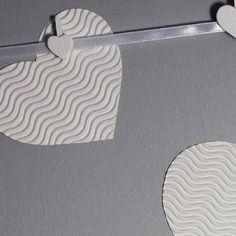Pêle-mêle / tableau - COEUR blancs et gris perle - Déco murale chambre enfant, garçon, fille, bébé. Cadeau de naissance. décoration…. by Little-Klo