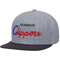 premium selection 833da 19001 Amazon.com   Mitchell and Ness NBA Los Angeles Clippers Tri Pop Script Gray  Snapback Cap   Sports   Outdoors