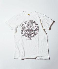 SHIPS for women casual(シップスフォーウィメンカジュアル)の《予約》 Velva Sheen:VINTAGE SURF◆(Tシャツ/カットソー)|ホワイト