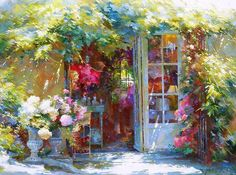 Painting by Johan Messely