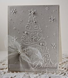 "I have another quick and easy design that is   also easy to mail for today's design.     I used  Darice's embossing folder called ""Ch..."