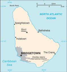 Image of Map of Barbados showing Bridgetown Cruise Port Location Caribbean Sea, Caribbean Cruise, Barbados Country, Witch Of Blackbird Pond, Bridgetown Barbados, Country Information, Political Reform, Geography For Kids, Windward Islands