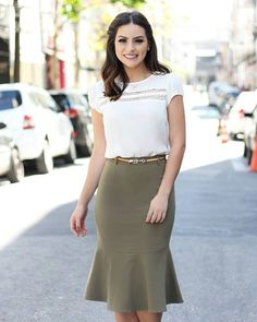 WEBSTA @ doceflorsp - {Lançamento} Look lindo da querida @camybaganha de blusa com detalhe em renda midi com jabot! 💕💕💕