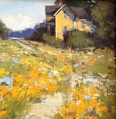 Beach Cottage by Romona Youngquist Oil ~ 12 x 12 See this artist painting live en plain air at Luscher Farm - May and Watercolor Landscape, Abstract Landscape, Landscape Paintings, Watercolor Paintings, Painting Art, Watercolor Artists, Painting Lessons, Abstract Paintings, Oil Paintings