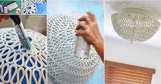 If you have an outdated light fixture, consider giving it a modern upgrade with rope.