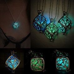 Vintage Luminous Glow In The Dark Hollow Magic Tree of Life Necklace Pendant New #UnbrandedGeneric #LocketCharm