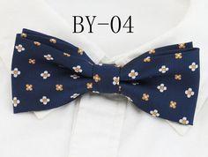 Fashion mens plaid print Polyester silk bow tie