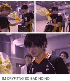My guess is this is from the vid where Kageyama's actor is leaving the group, since I remember another actor took his place in the latest performance after that.