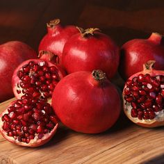 Draw inspiration from the color, textures, and sweetness of pomegranates.