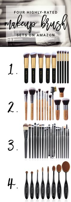 the best makeup brush sets on amazon (so many steals!)