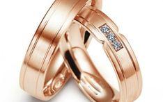Verighete din aur roz MDV994 #verighete #verighete5mm #verigheteaur #verigheteaurroz #magazinuldeverighete Bangles, Bracelets, Aur, Wedding Rings, Engagement Rings, Jewelry, Model, Diamond, Enagement Rings
