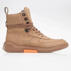 - 8-tie tactical boot - Nubuck leather - AM concept 014 Sole Upper - 100% Leather Lining - 100% Leather Sole - 70% Phylon / 30% rubber