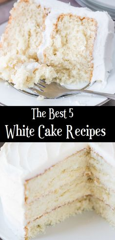 Wedding Cake Recipes A scratch white cake that's actually moist, with a soft texture and oh so delicious with that wedding cake flavor. Köstliche Desserts, Delicious Desserts, Dessert Recipes, Cupcakes, Cupcake Cakes, Cake Recipes From Scratch, Simple White Cake Recipe, White Wedding Cake Recipe From Scratch, Best Cake Recipes