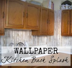 A cheap and easy kitchen upgrade-- how to install a wallpaper kitchen back splash!
