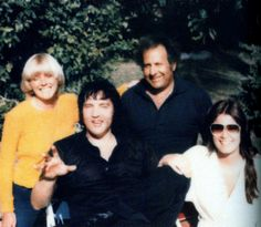 Elvis and Ginger, with Joe Esposito and his wife in Hawaii March 1977