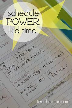 schedule power kid time  teachmama.com