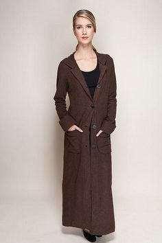 Jan Hamilton Crowley. Recycled Long Sweater Coat Upcycled Wool and ...