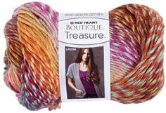 Amazon Red Heart  Boutique Treasure Yarn, Abstract Red Heart