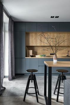 Kitchen Room Design, Home Room Design, Modern Kitchen Design, Living Room Kitchen, Home Decor Kitchen, Interior Design Kitchen, Home Kitchens, Dining Room Design, Small Modern Kitchens