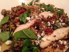Blackened Chicken With Quinoa, Feta, Artichokes, Spinach, And Mushrooms