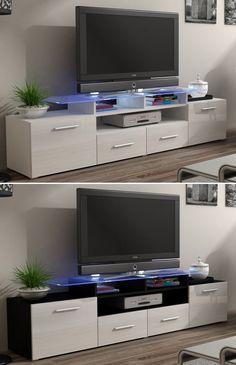 HIGH GLOSS WHITE Design TV STAND   TV Cabinet   TV & Entertainment Stand EVORA