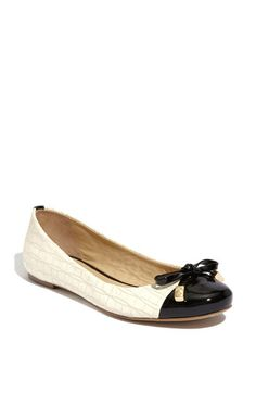 Kate Spade ballet flat - liking the pattern on the white leather part of the shoe