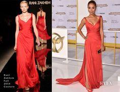 Meta Golding In Rani Zakhem Couture – 'The Hunger Games: Mockingjay – Part 1′ LA Premiere