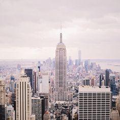 Cloudy NYC. Photo courtesy of coffeesundays on Instagram.