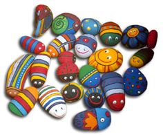 pet rocks and stone garden - tons of ideas Stone Crafts, Rock Crafts, Crafts To Make, Arts And Crafts, Pebble Painting, Pebble Art, Stone Painting, Rock Painting, Painted Rocks