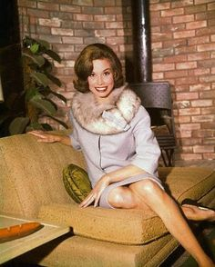 In the 1960's professional women were rare and a curiosity in the workplace.   With Style. Mary Tyler Moore in the Dick Van Dyke Show living room.