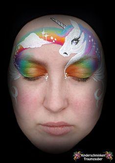 Unicorn rainbow face paint