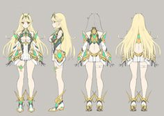 View an image titled 'Mythra Concept Art' in our Xenoblade Chronicles 2 art gallery featuring official character designs, concept art, and promo pictures. Fantasy Character, Character Model Sheet, Female Character Design, Character Modeling, Character Creation, Character Design References, Character Design Inspiration, Game Character, Character Concept