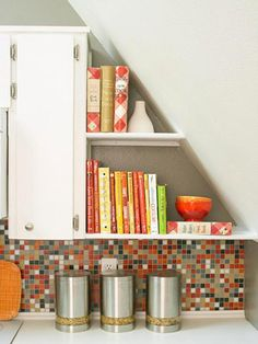Kitchen nook makeover the awkward blog - Shelving And Storage On Pinterest Land Of Nod Wall