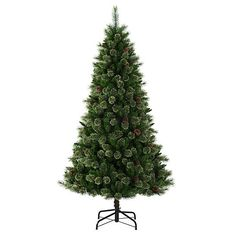 "Jaclyn Smith 7' Nashville Cashmere Pine Tree - KMART 122.39 - 42"" wide"