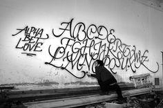 Alphabet Love Graffiti By Luca Barcellona