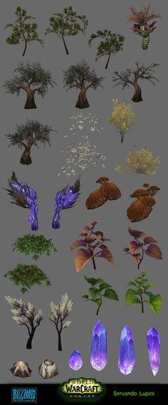 ArtStation - Azsuna - Environment assets, servando lupini