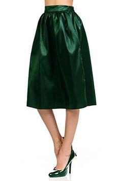 8eddd5848bff5 Womens Skirts Gathered midi Skirts with Two Side Pockets Knee Length 5  Sizes (S-XXL). HuaHuaFashion · Clothing